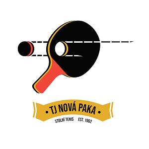 Oficiální logo oddílu stolního tenisu TJ Nová Paka